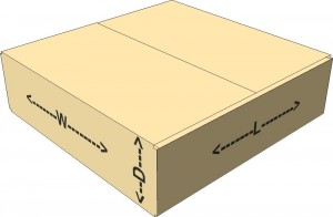 16X16X4 DIM WEIGHT BOX