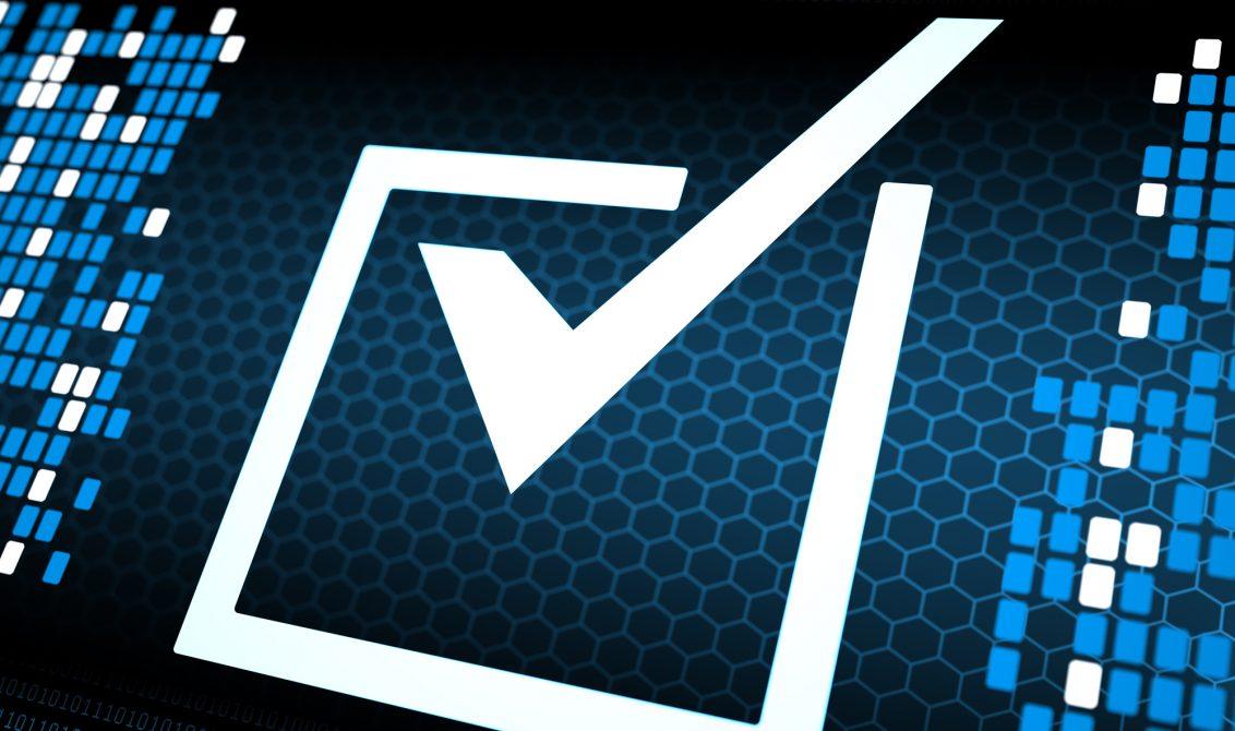 Correct check box digital concept